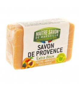 Mydło marsylskie brzoskwinia-morele 100 g - Maître Savon