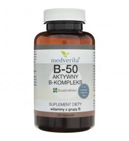 Medverita B-50 metylowany B-kompleks - 120 kapsułek