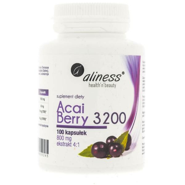 Aliness Acai Berry 3200 - 100 kapsułek