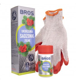 Bros Ukorzenia sadzonki zielne + rękawiczki - 50 g