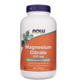 Now Foods Cytrynian Magnezu 200 mg - 250 tabletek