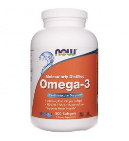 Now Foods Omega-3 1000 mg - 500 kapsułek