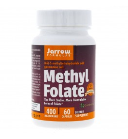 Jarrow Formulas Methyl Folate (Folian) 400 mcg - 60 kapsułek