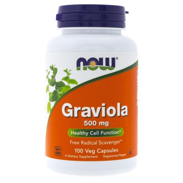 Now Foods Graviola 500 mg - 100 kapsułek