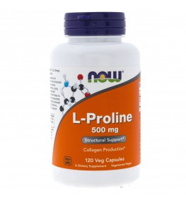 Now Food L-Proline (L-Prolina) 500 mg - 120 kapsułek