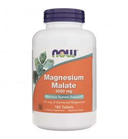 Now Foods Magnesium Malate (jabłczan magnezu) 1000 mg - 180 tabletek