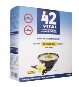 42 Vital Niskokaloryczna dieta roślinna waniliowy smak - 510 g
