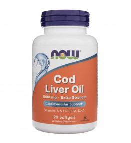 Now Foods Cod Liver Oil (Tran) 1000 mg - 90 kapsułek