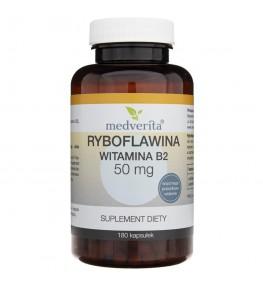 Medverita Ryboflawina (Witamina B2) 50 mg - 180 kapsułek