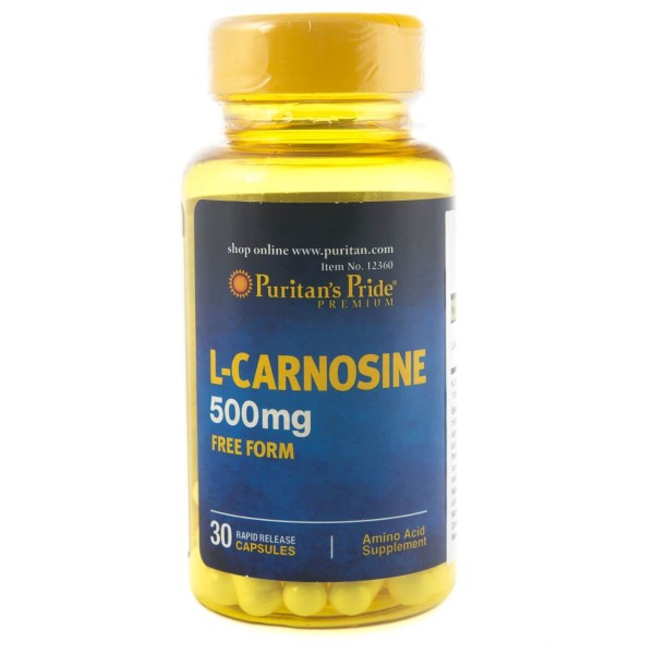 Puritan's Pride L-Karnozyna 500 mg - 30 kapsułek