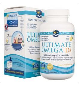 Nordic Naturals Ultimate Omega-D3 - 120 kapsułek