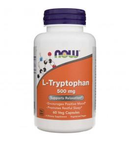 Now Foods L-Tryptofan 500 mg - 60 kapsułek