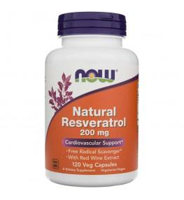 Now Foods Resveratrol 200 mg + ekstrakt z czerwonego wina - 120 kapsułek
