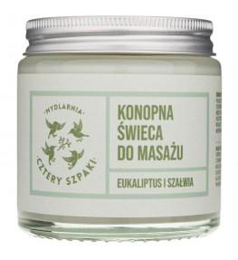 Cztery Szpaki Konopna świeca do masażu eukaliptus i szałwia - 120 ml