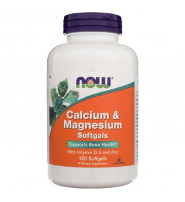 Now Foods Calcium & Magnesium - 120 kapsułek