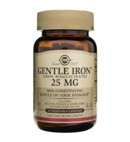 Solgar Gentle Iron, chelat aminokwasowy 25 mg - 90 kapsułek