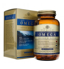 Solgar Pełne Spektrum Omega Łosoś Alaskański - 120 kapsułek