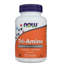 Now Foods Tri-Amino (L-Arginina, L-Ornityna, L-Lizyna) - 120 kapsułek