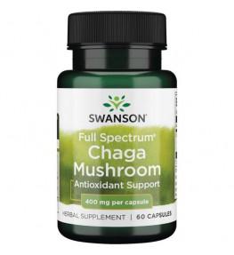 Swanson Full Spectrum Chaga Mushroom 400 mg - 60 kapsułek