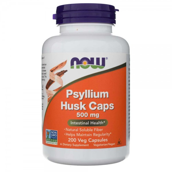 Now Foods Psyllium Husk 500 mg - 200 kapsułek