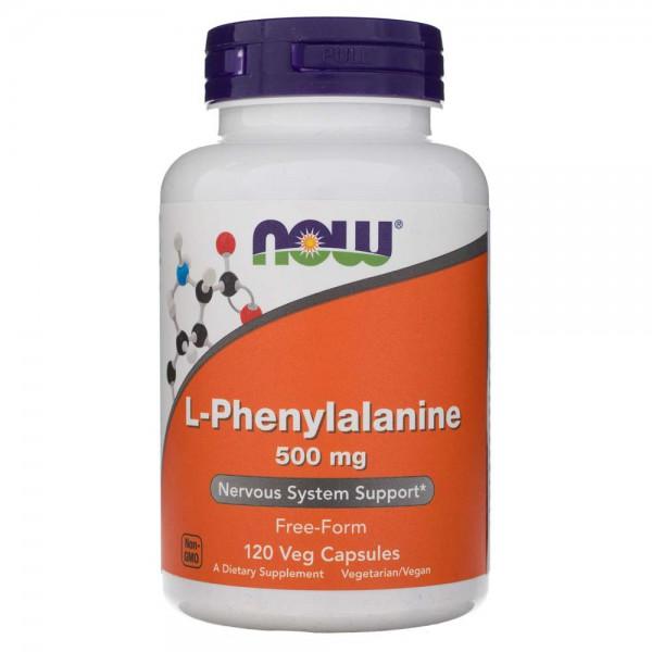 Now Foods L-Phenylalanine (L-Fenyloalanina) 500 mg - 120 kapsułek