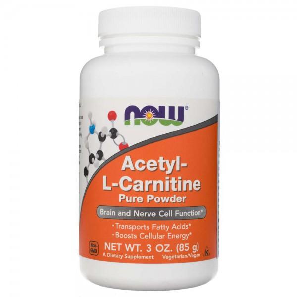 Now Foods Acetyl L-Karnityny (ALC) w proszku - 85 g