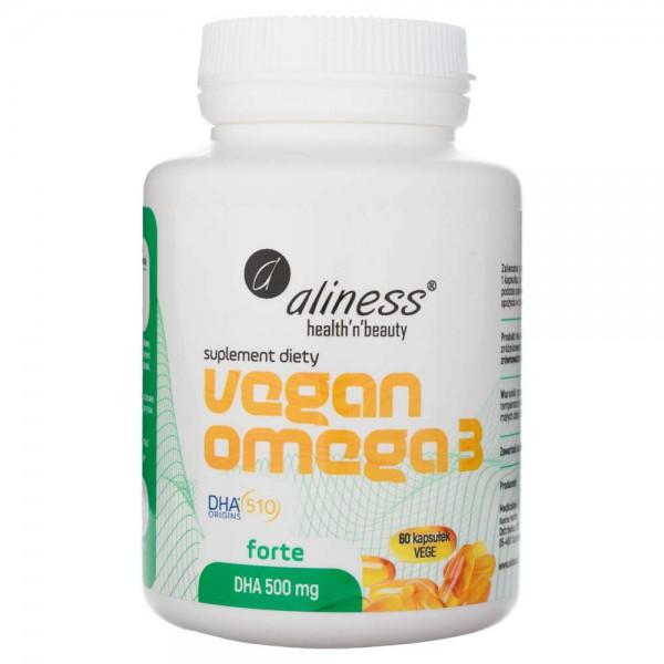 Aliness Vegan Omega 3 FORTE DHA 500 mg - 60 kapsułek