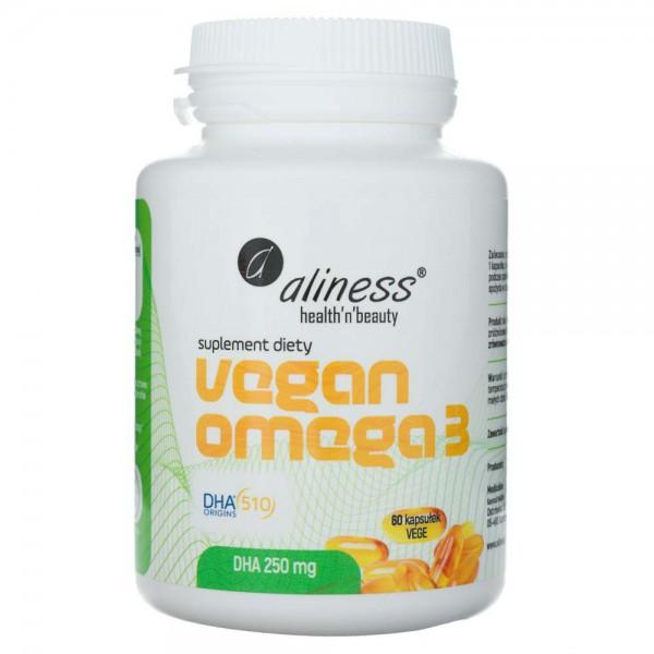 Aliness Vegan Omega 3 DHA 250 mg - 60 kapsułek