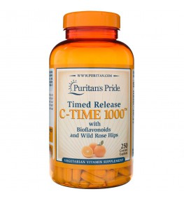 Puritan's Pride Witamina C - 1000 mg Powolne Uwalnianie - 250 tabletek