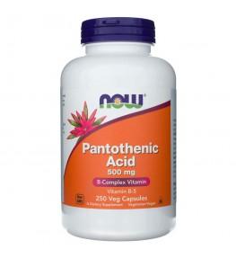 Now Foods Pantothenic Acid kwas pantotenowy 500 mg - 250 kapsułek