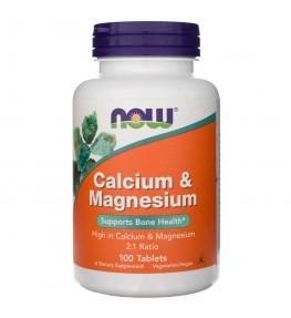 Now Foods Calcium & Magnesium - 100 tabletek