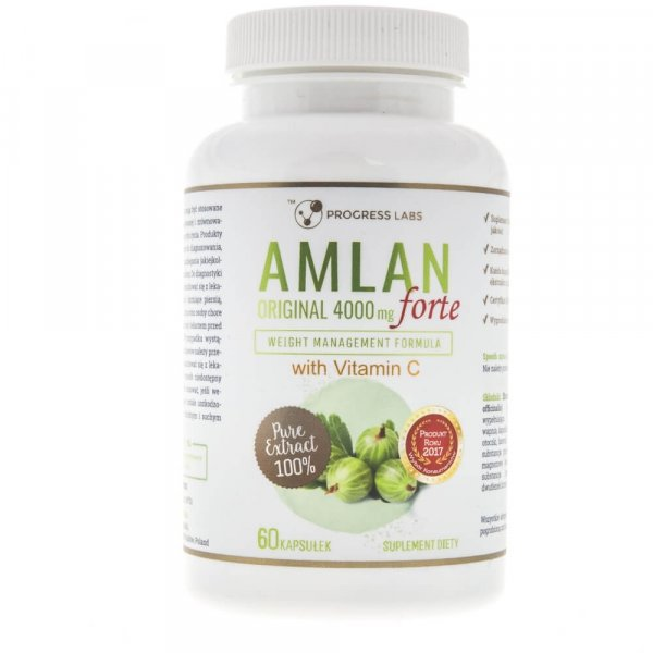 Progress Labs Amlan Forte (Agrest Indyjski) 4000 mg - 60 kapsułek