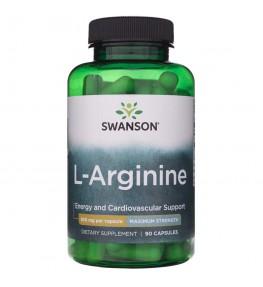 Swanson L-Arginina Forte 850 mg - 90 kapsułek
