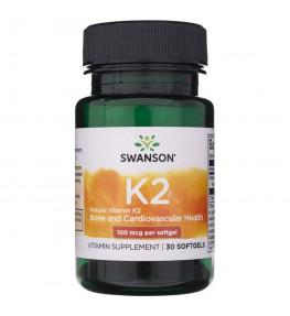 Swanson Witamina K2 MK7 100 mcg - 30 kapsułek