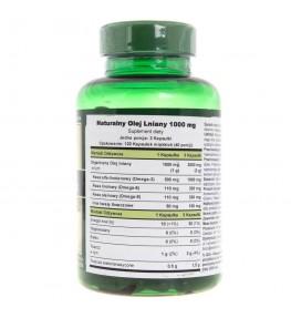 Puritan's Pride Flax Oil (Naturalny Olej Lniany) 1000 mg - 120 kapsułek