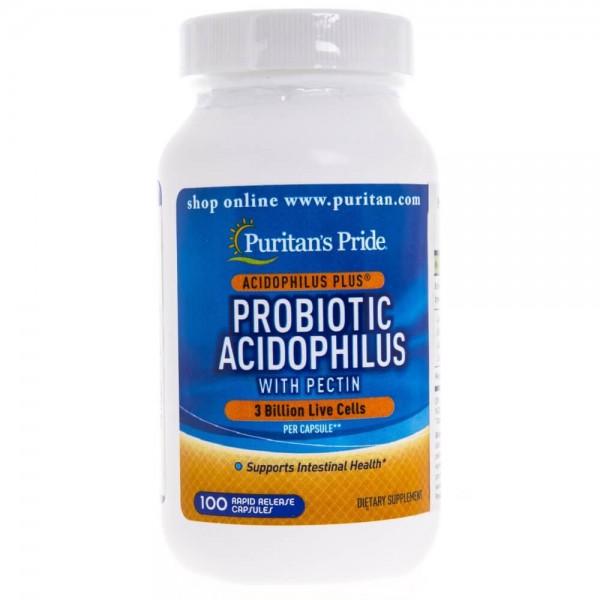 Puritan's Pride Probiotic Acidophilus (probiotyk na jelita) - 100 kapsułek