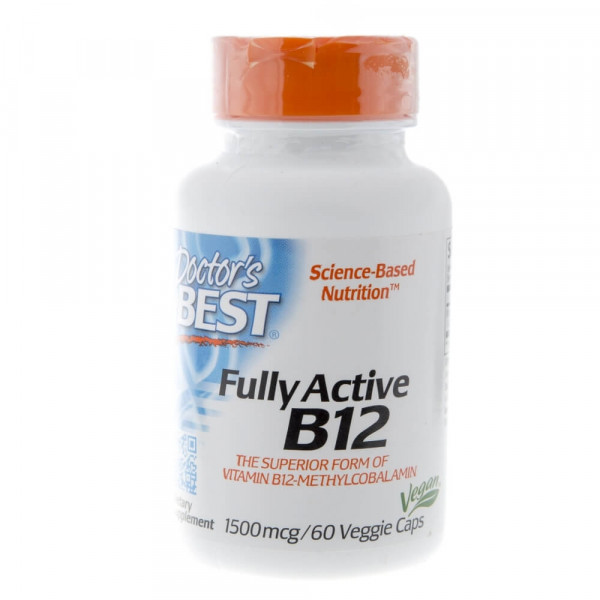 Doctor's Best Fully Active B12 1500 mcg - 60 kapsułek