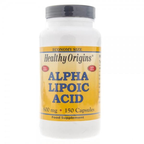 Healthy Origins Kwas Alfa Liponowy (ALA) 600 mg - 150 kapsułek