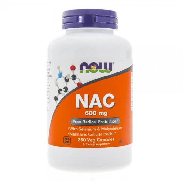 Now Foods NAC N-Acetyl Cysteine 600 mg - 250 kapsułek