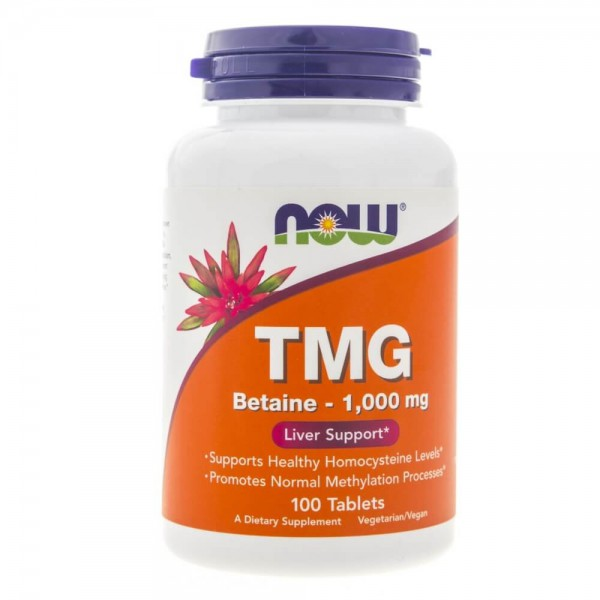 Now Foods TMG (Betaine) 1000 mg - 100 tabletek