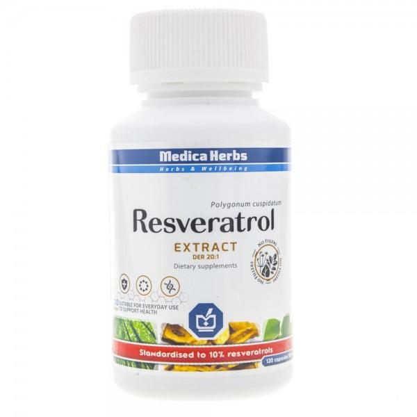Medica Herbs Resweratrol - 120 kapsułek