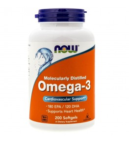 Now Foods Omega-3 1000 mg - 200 kapsułek