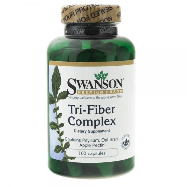 Swanson Tri-Fiber complex (naturalne błonniki) - 100 kapsułek
