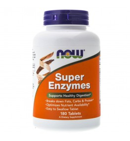 Now Foods Super Enzymes - 180 tabletek