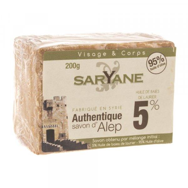 Mydło w kostce Aleppo 5% oleju laurowego 500 ml - Saryane