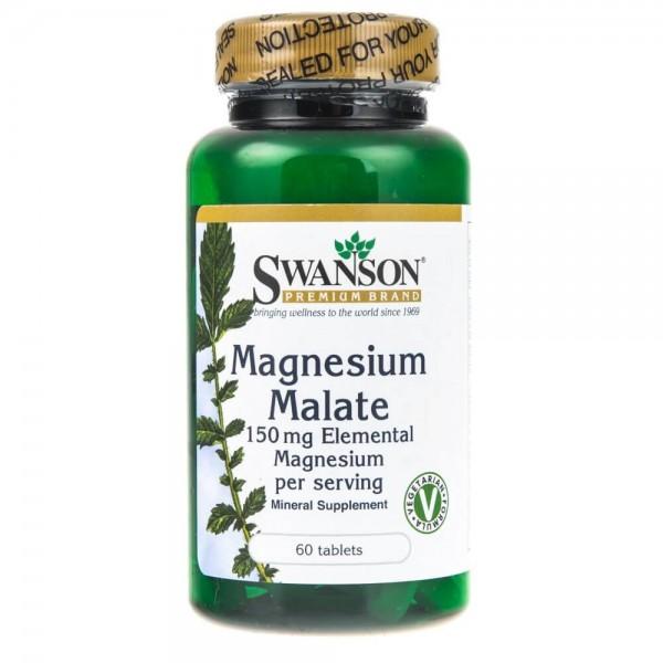 Swanson Magnesium Malate (Jabłaczan Magnezu) 150 mg - 60 tabletek