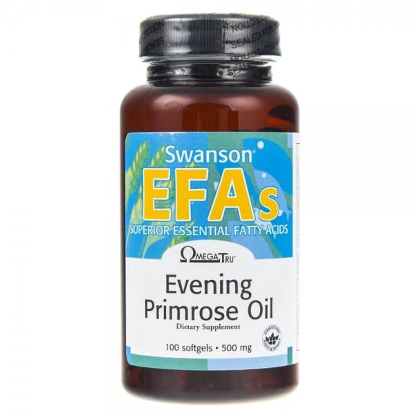 Swanson Evening Primorose Oil EPO (Olej z wiesiołka) - 100 kapsułek