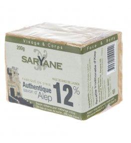 Mydło w kostce Aleppo 12% oleju laurowego 200 g - Saryane