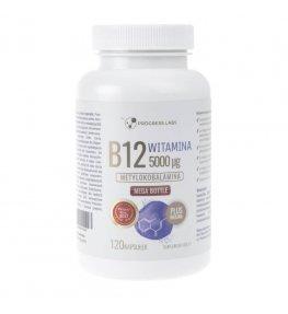 Progress Labs Witamina B12 5000 µg + Inulina - 120 kapsułek