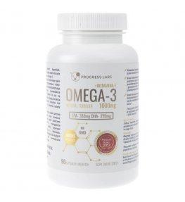 Progress Labs Omega-3 1000 mg + Witamine E - 90 kapsułek